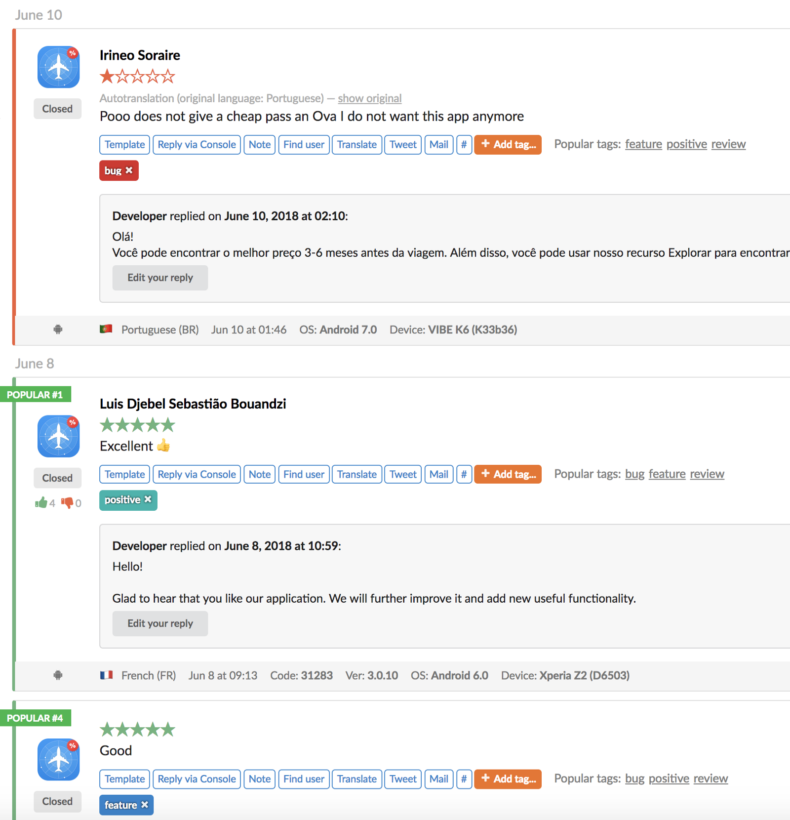 ios app store reviews