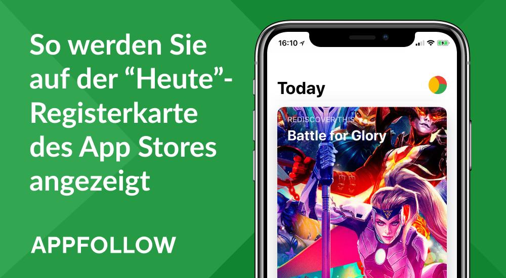 """So werden Sie auf der """"Heute""""-Registerkarte des App Stores angezeigt"""