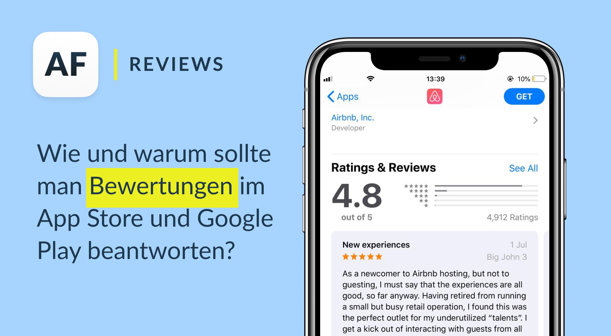 Wie und warum sollte man Bewertungen im App Store und Google Play beantworten?