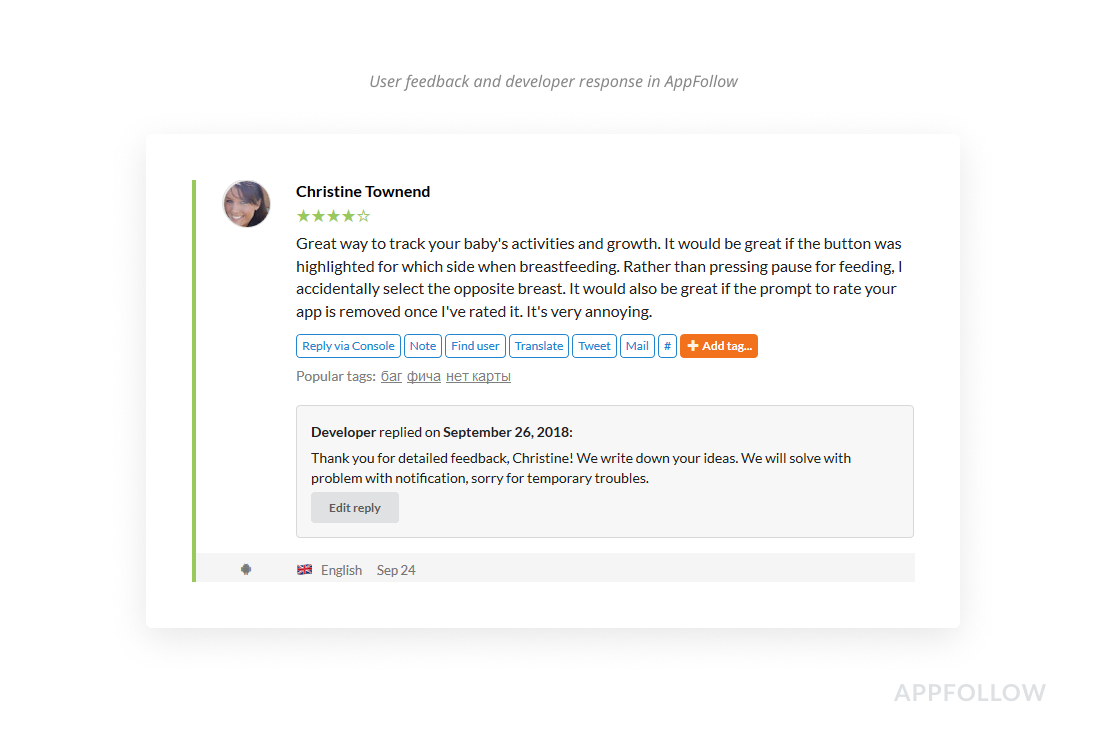 Replying to customer reviews is a simple way to get free app installs