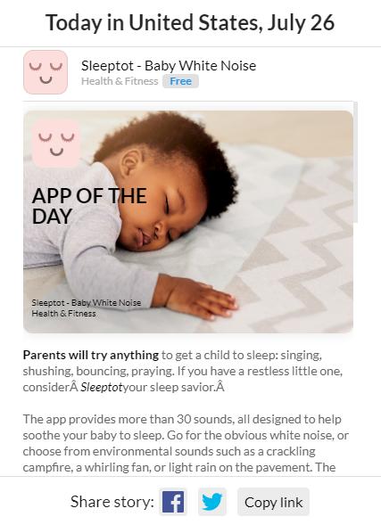O aplicativo Sleeptot ajuda os pais a fazer seus filhos dormirem.