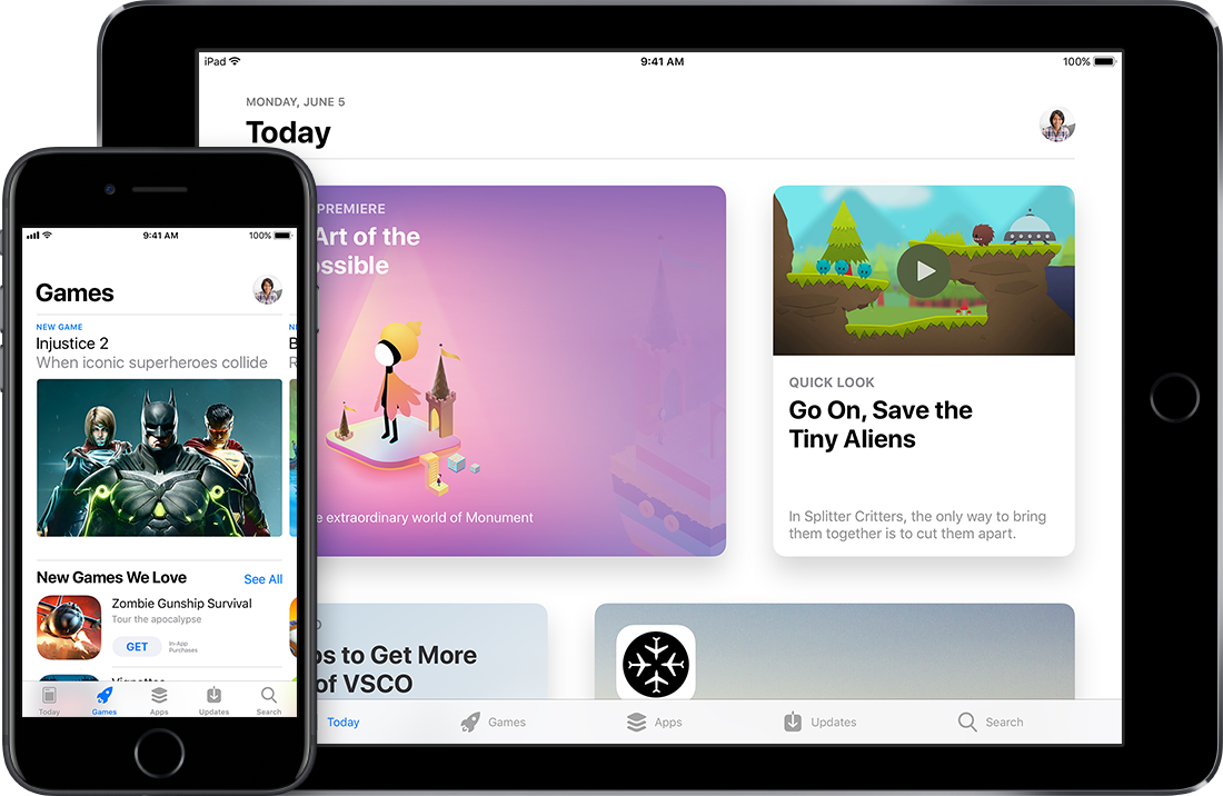 e app store for ios devices