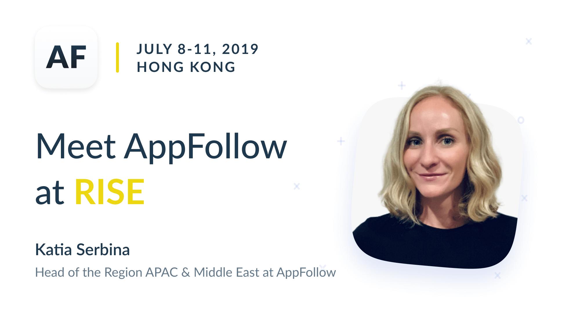 Meet AppFollow at RISE in Hong Kong