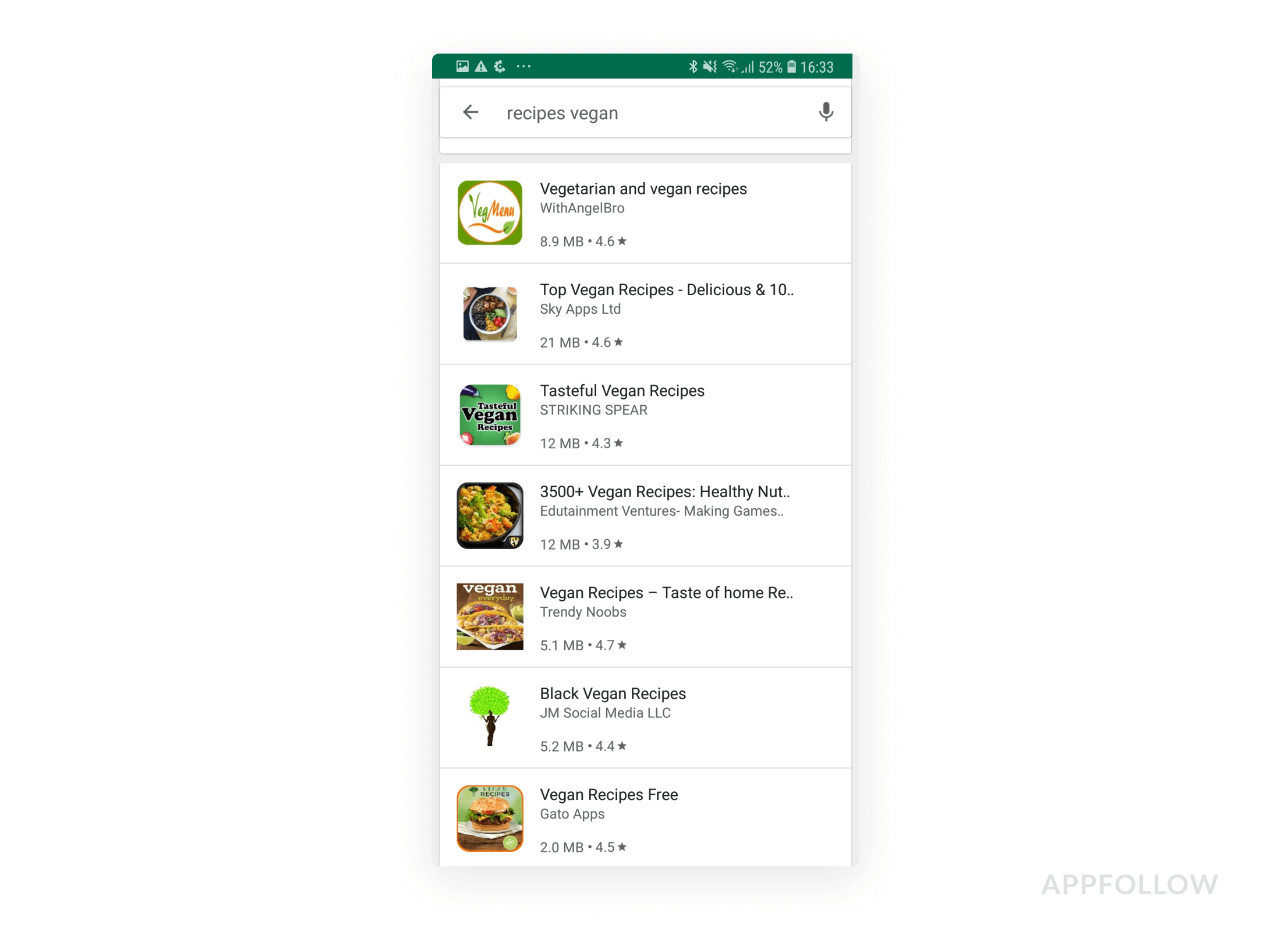 Search results page on Google Play