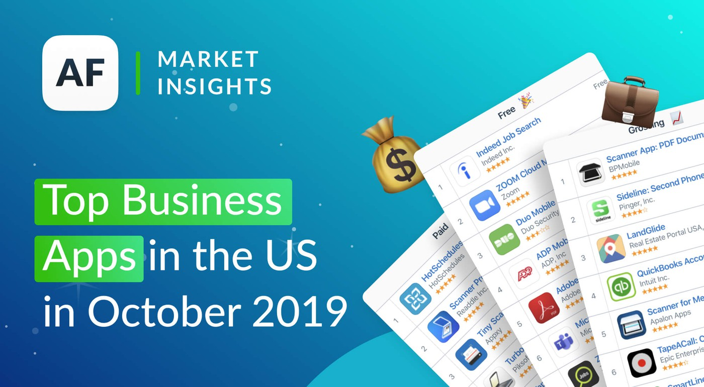 Top Business Apps in the US in October 2019