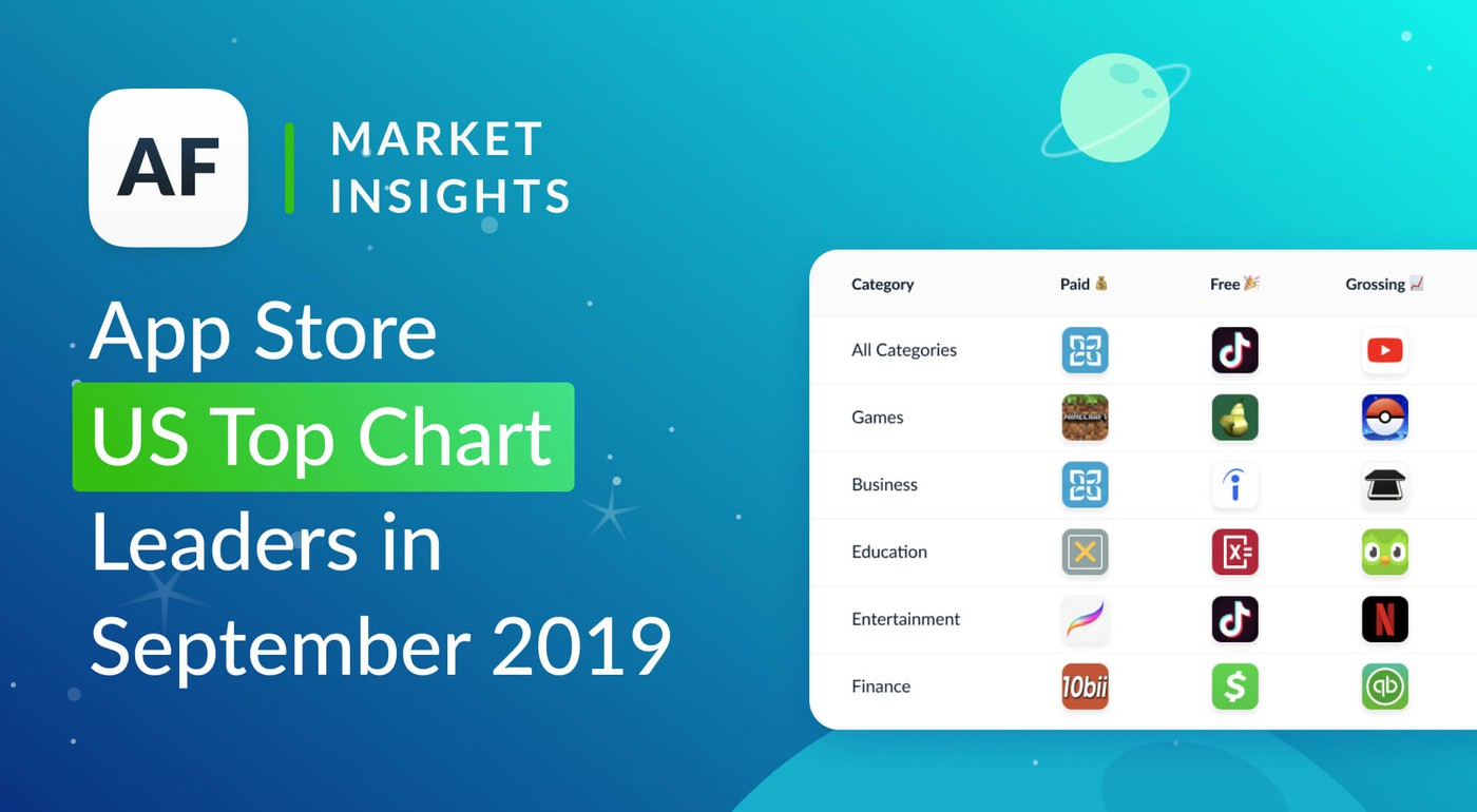 Top Apps & Games in The US App Store for Sept 2019