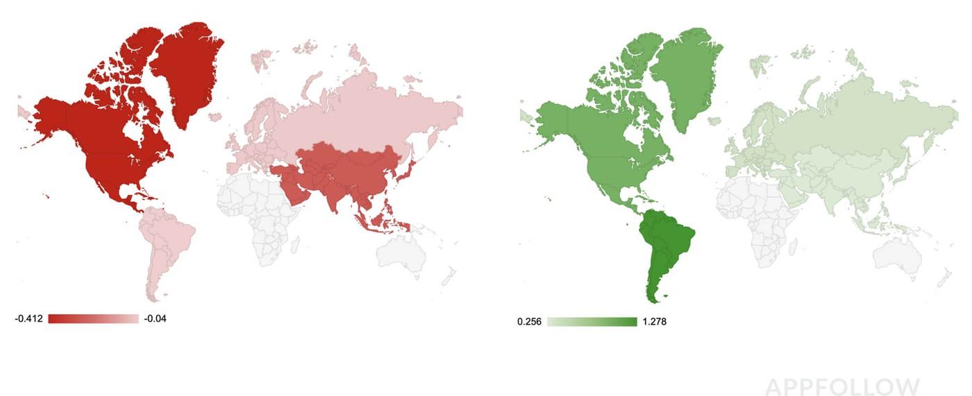 Глобальная статистика лояльности по Appstore