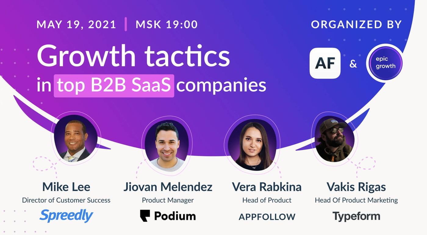 Growth tactics in top B2B SaaS companies