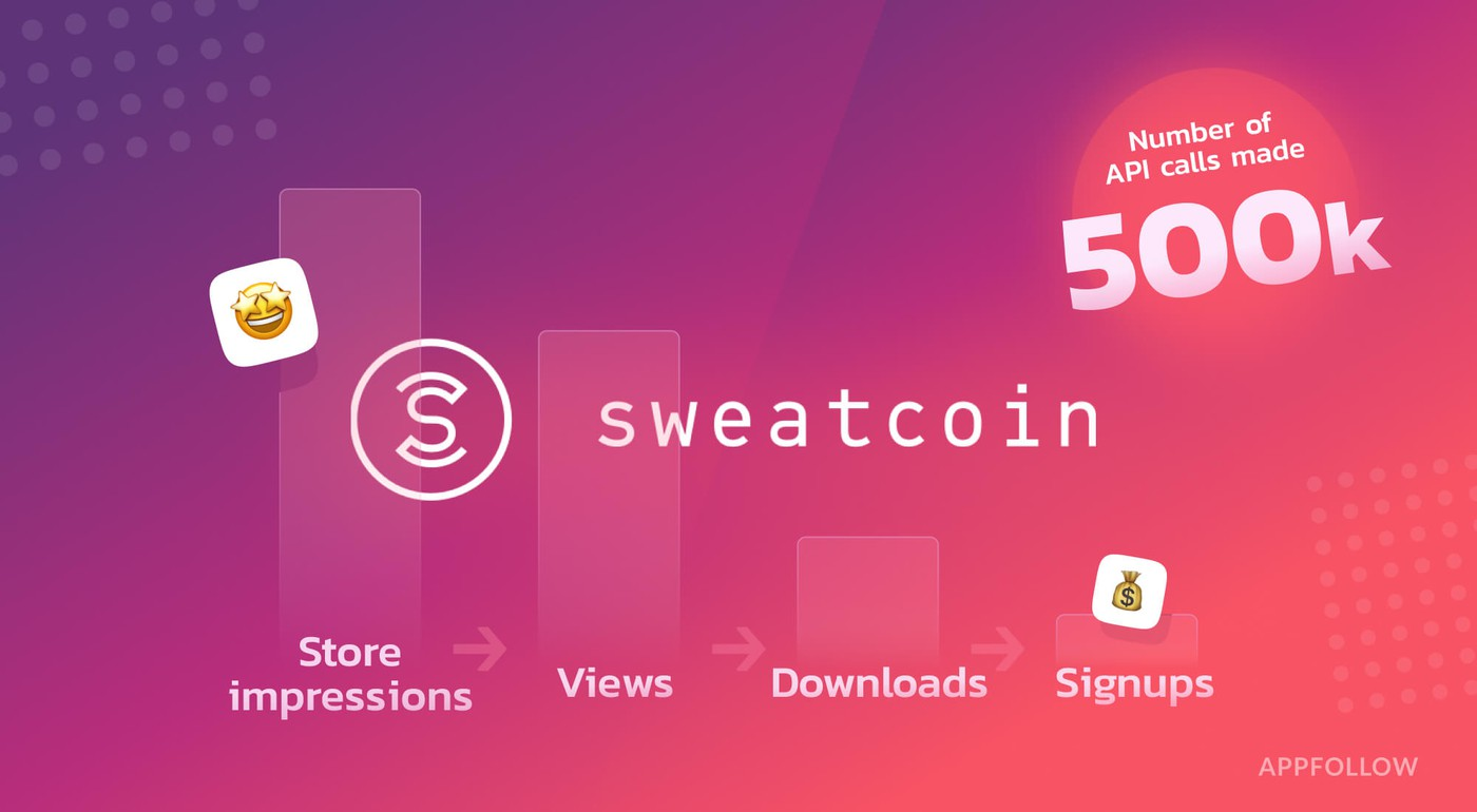Sweatcoin analyses organic growth funnel with data from AppFollow