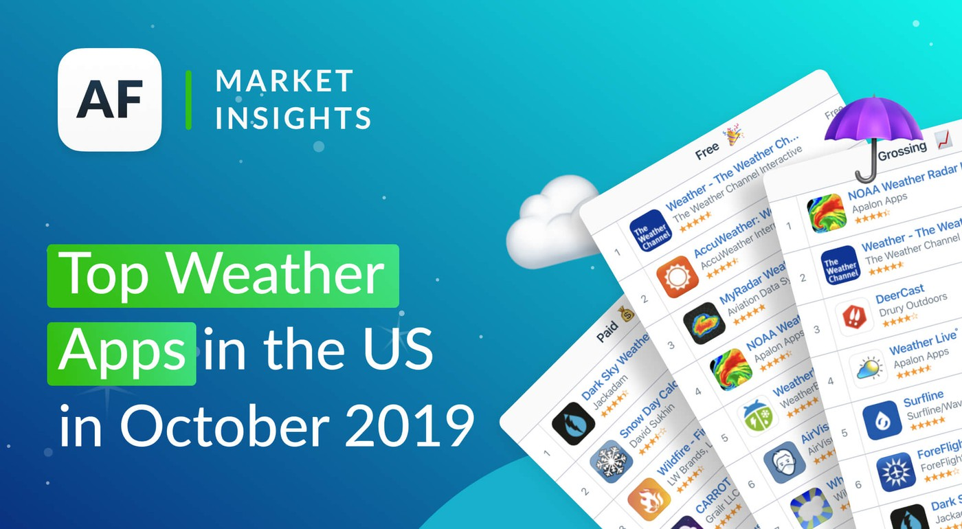 Top Weather Apps in the US in Оctober 2019