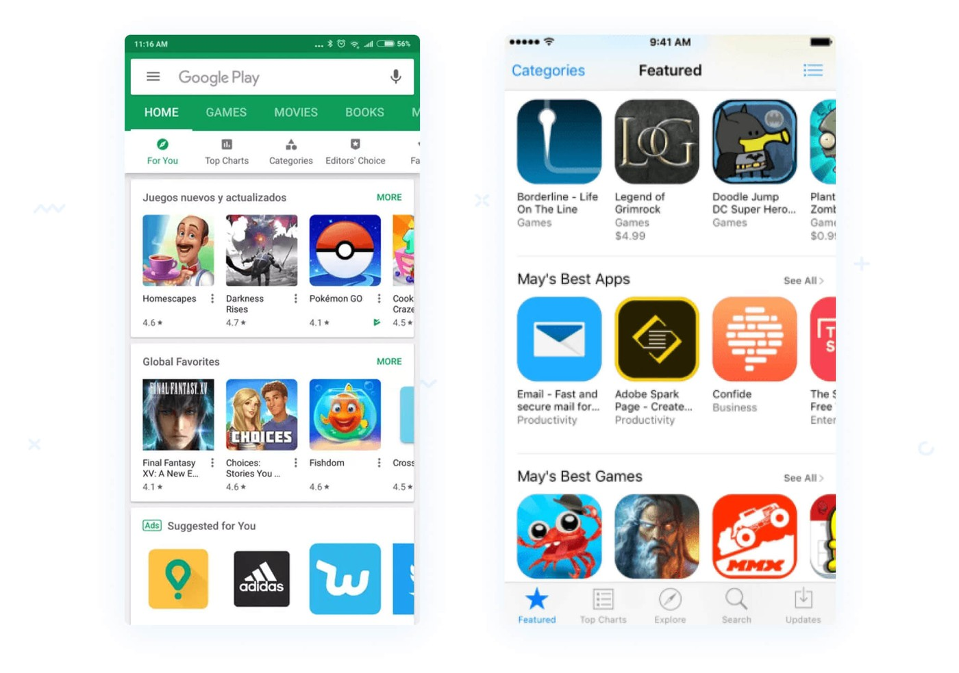 App store icons example