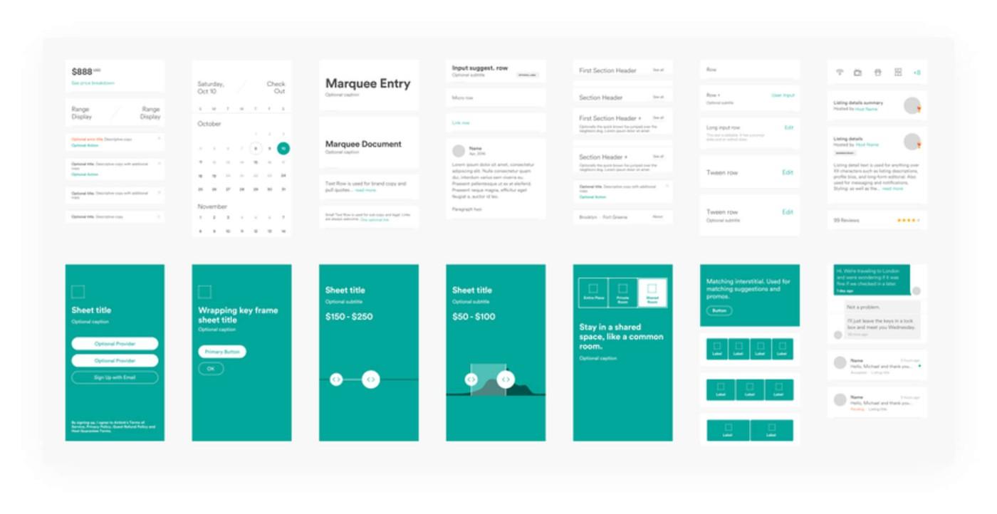 Airbnb app design language system