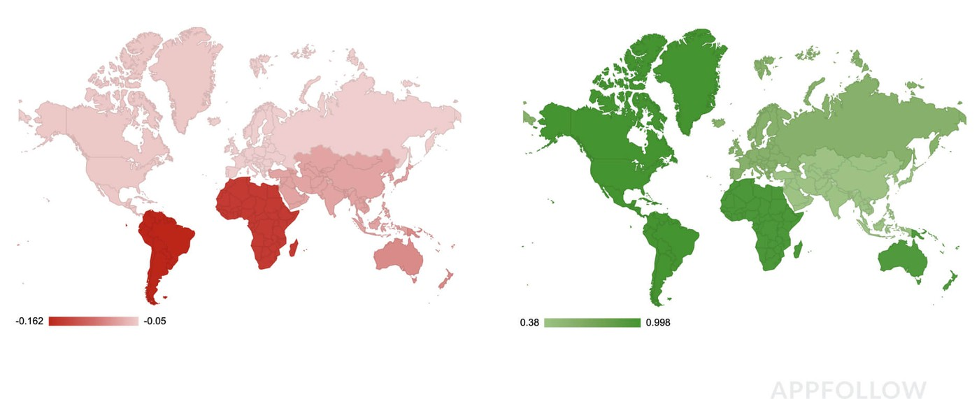 Глобальная статистика лояльности по Google Play