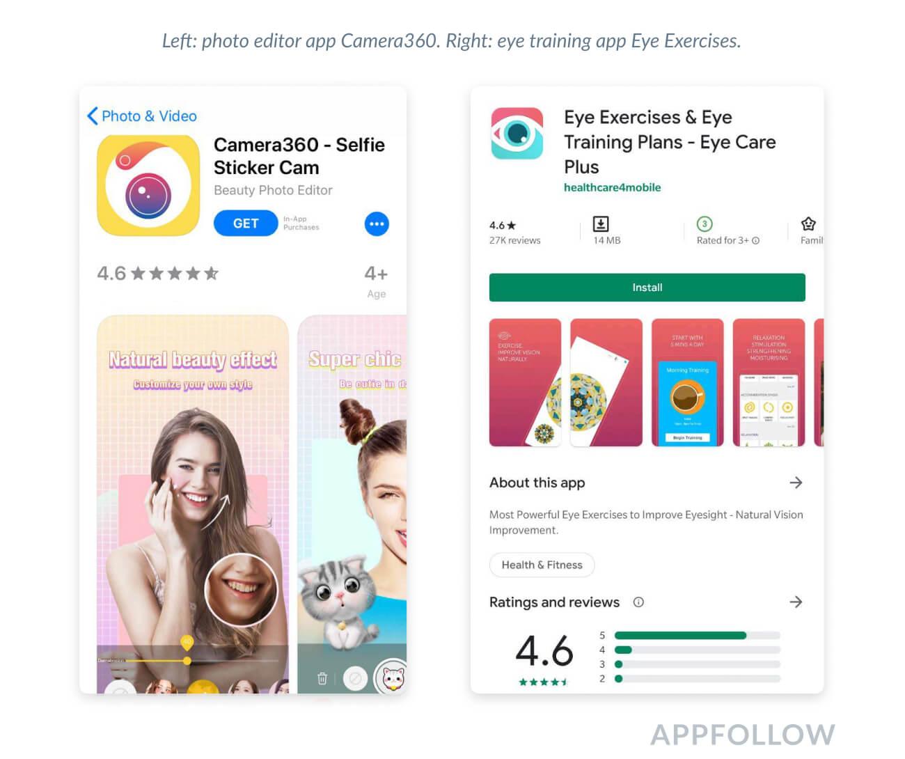 apple iphone screenshot and android app store screenshot
