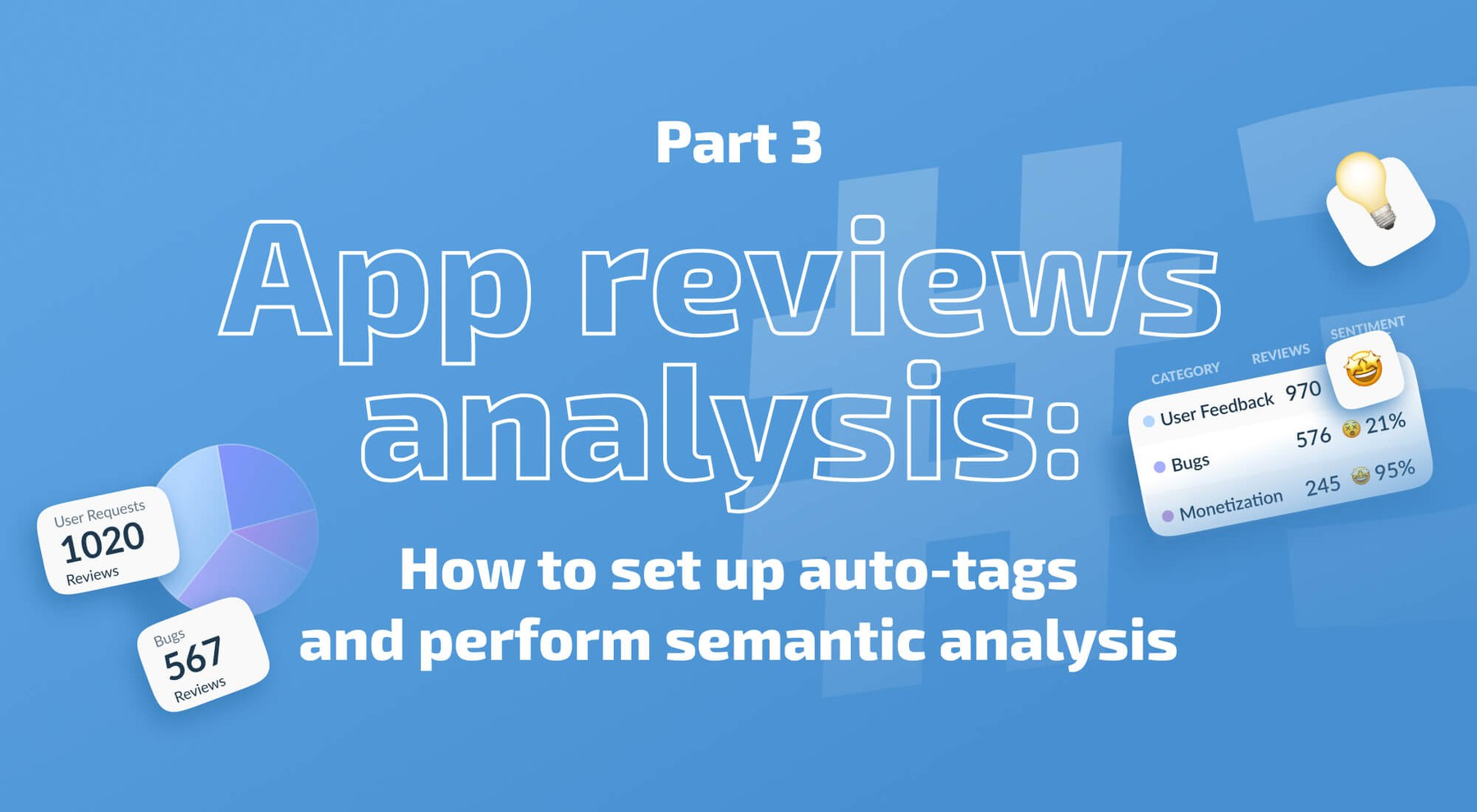 App reviews analysis: How to set up auto-tags and perform semantic analysis
