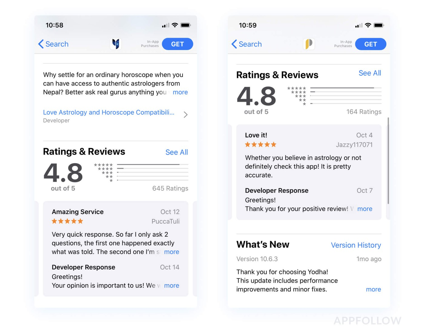 App Store positive review example