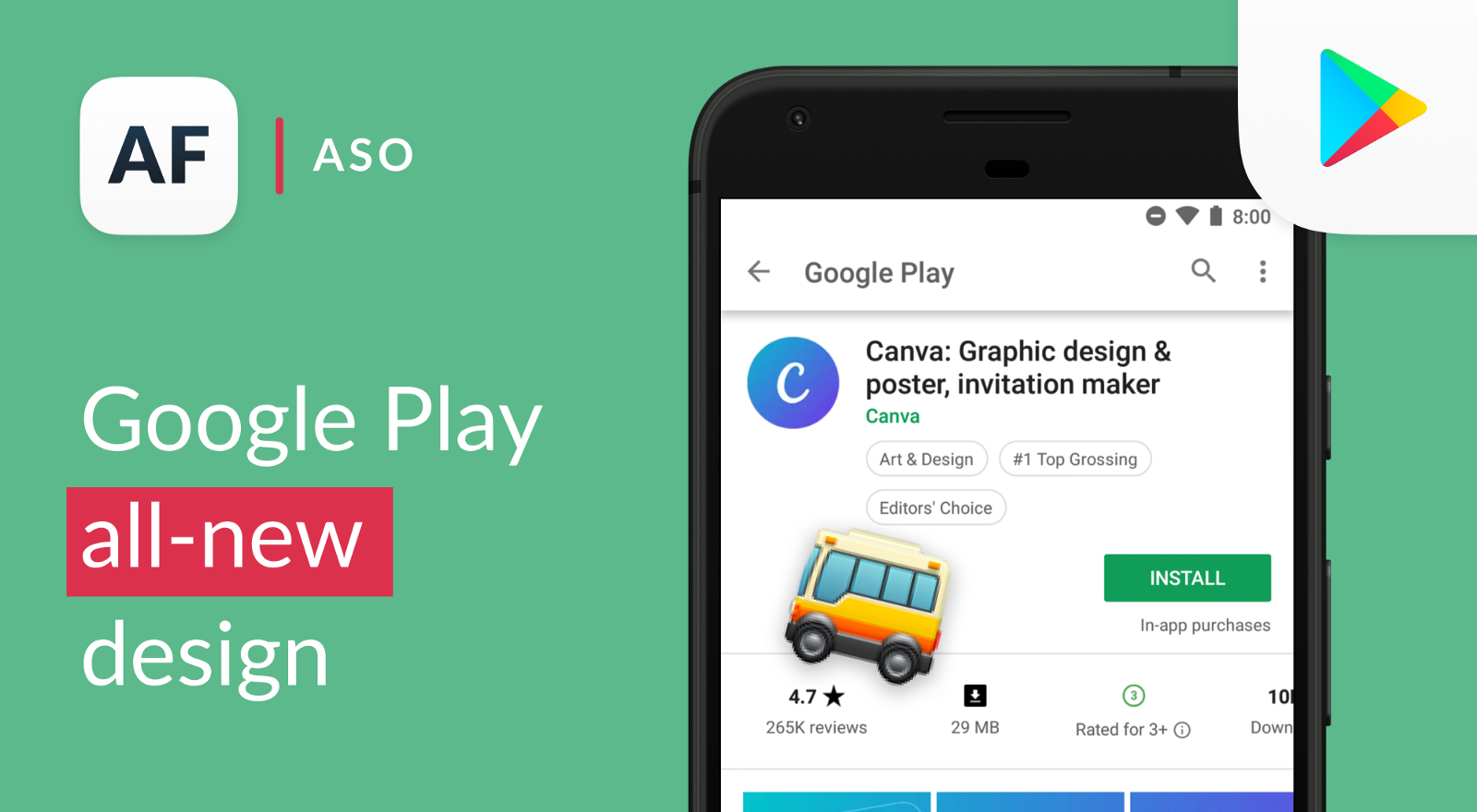 Google Play Store biggest redesign. Is it ASO-friendly?