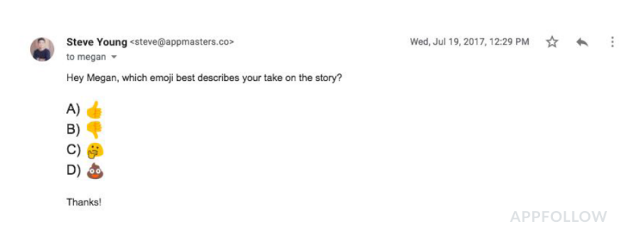 Example of a follow up email to a reporter that helps your app store promotion.
