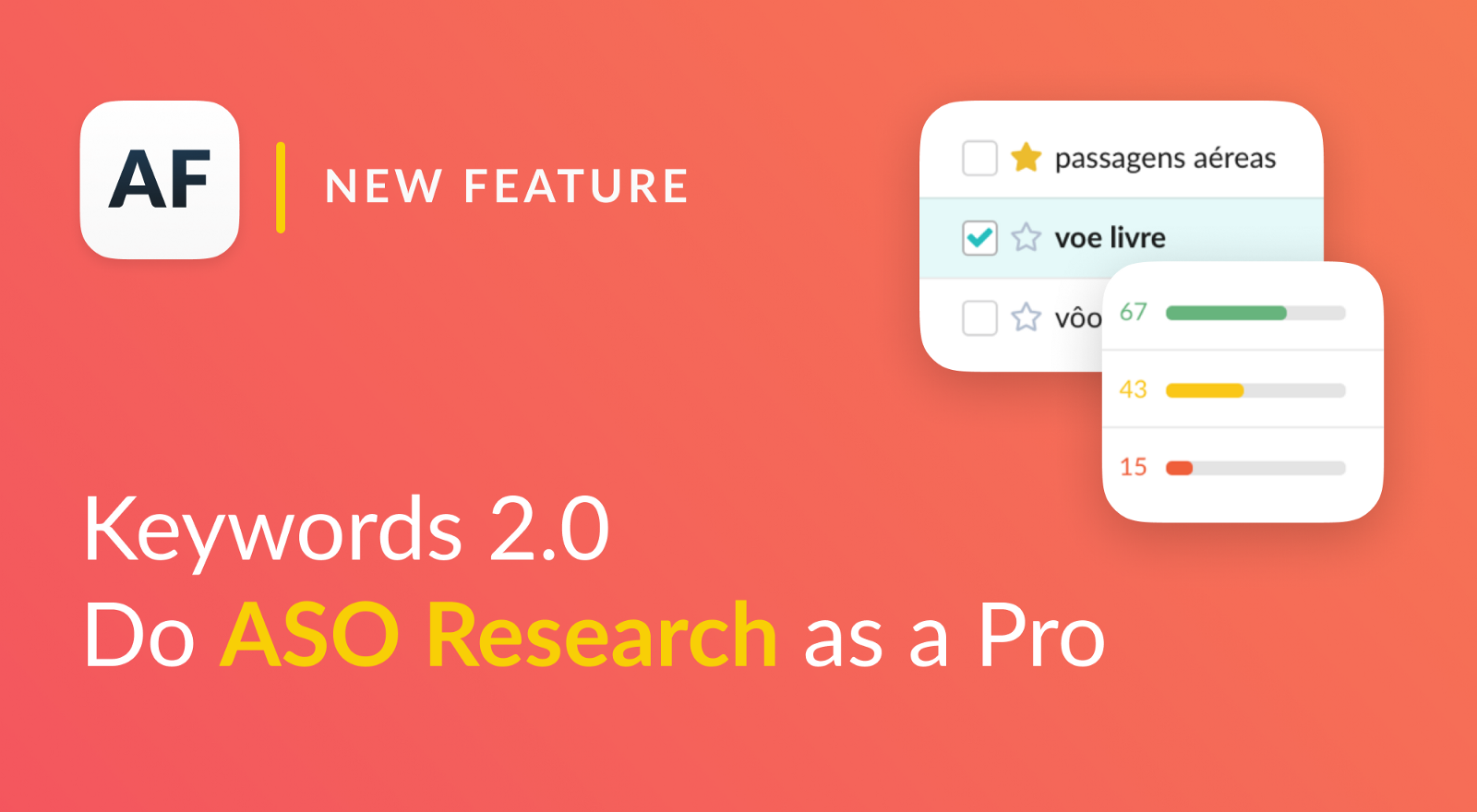 Keywords 2.0 for ASO Research: Harder, Better, Faster, Stronger