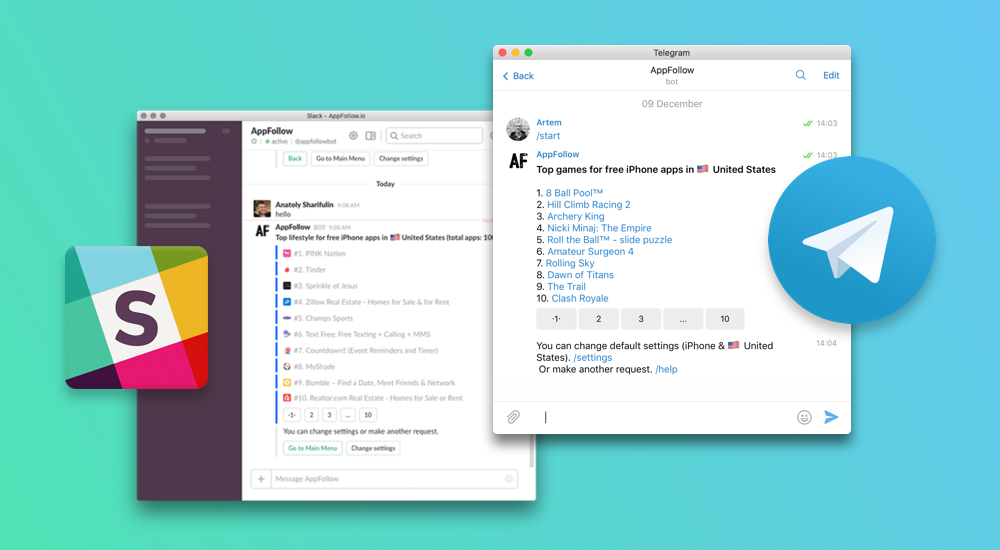 Slack и Telegram боты — как вовремя мы запустили версию 2.0